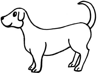 409x309 Simple Dog Clipart