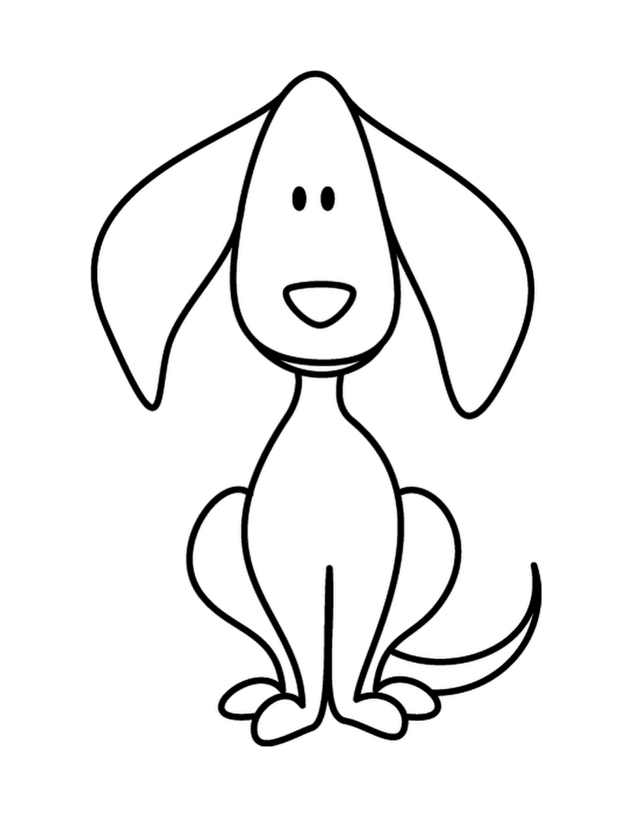 1275x1650 Simple Sketch For Kid Simple Drawing Of A Dog Dog Drawings
