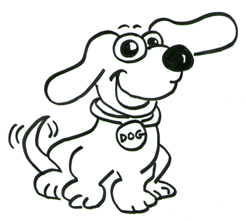 500x450 Dog Drawings For Kids How To Draw Cartoon Dogs Step Step Drawing