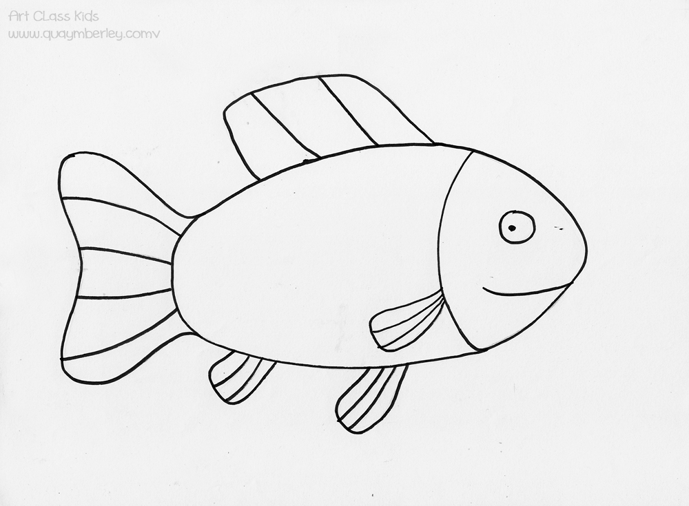 Line Drawing Of A Fish at GetDrawingscom Free for personal use