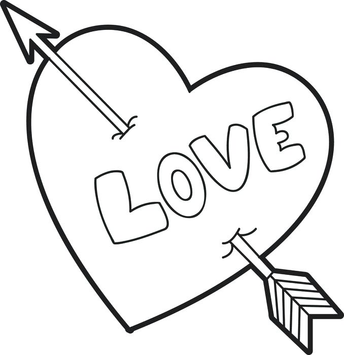 678x700 Coloring Page Of A Heart Awesome Coloring Pages Of Roses