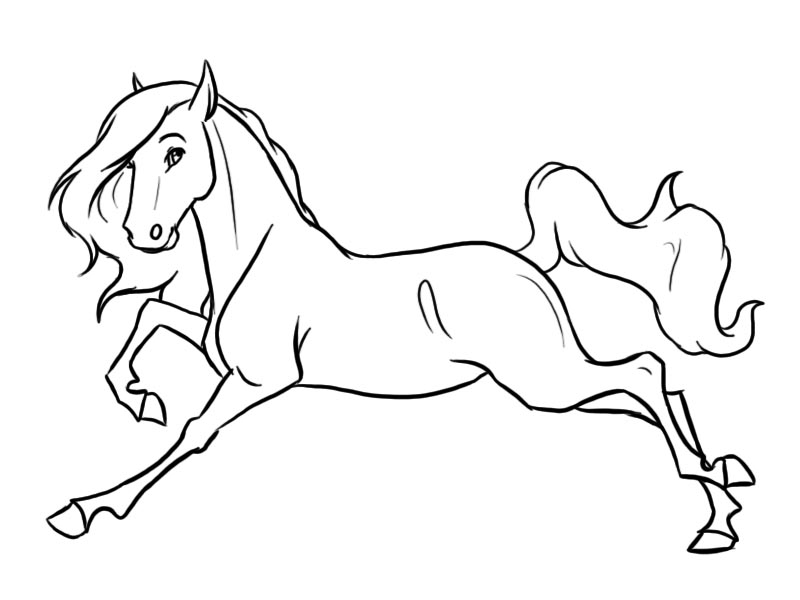 800x600 Horse Line Art By Gothic180