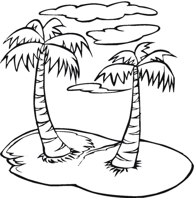 660x669 Dora With Palm Trees Coloring Page For Snazzy Image 13 Tree
