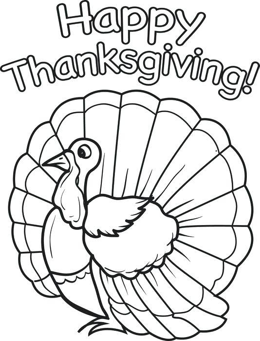 534x700 Thanksgiving Coloring Pages Printables Preschool Download Turkey