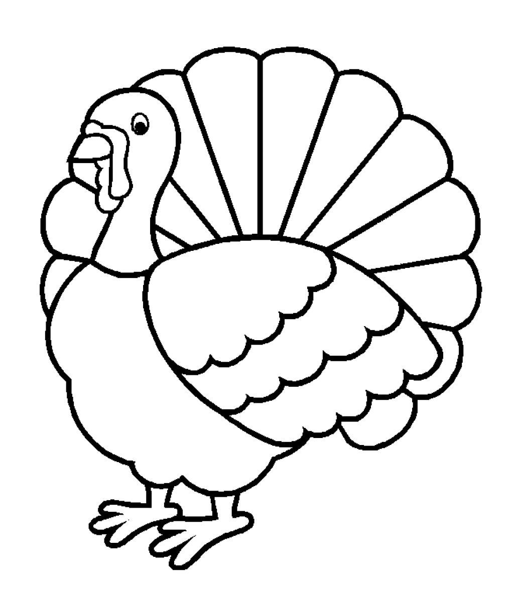 1024x1178 Turkey Drawing Outline Turkey Clipart Easy
