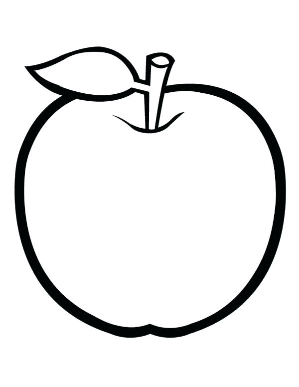 600x776 Coloring Picture Of An Apple Drawing Apple Basket Coloring Pages