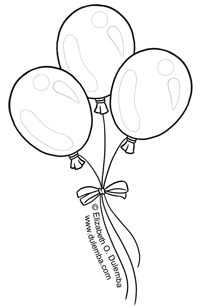 Line Drawing Of Balloons at GetDrawings.com | Free for personal use ...