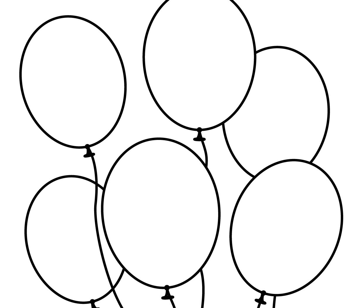 1200x1050 Happy Birthday Coloring Page With Pages Of Balloons Free For Kids