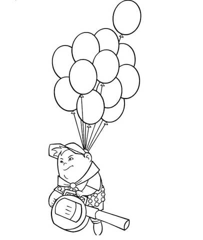 406x480 Russell On The Balloons Coloring Page Free Printable Coloring Pages