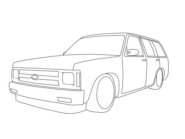 Line Drawing Of Car