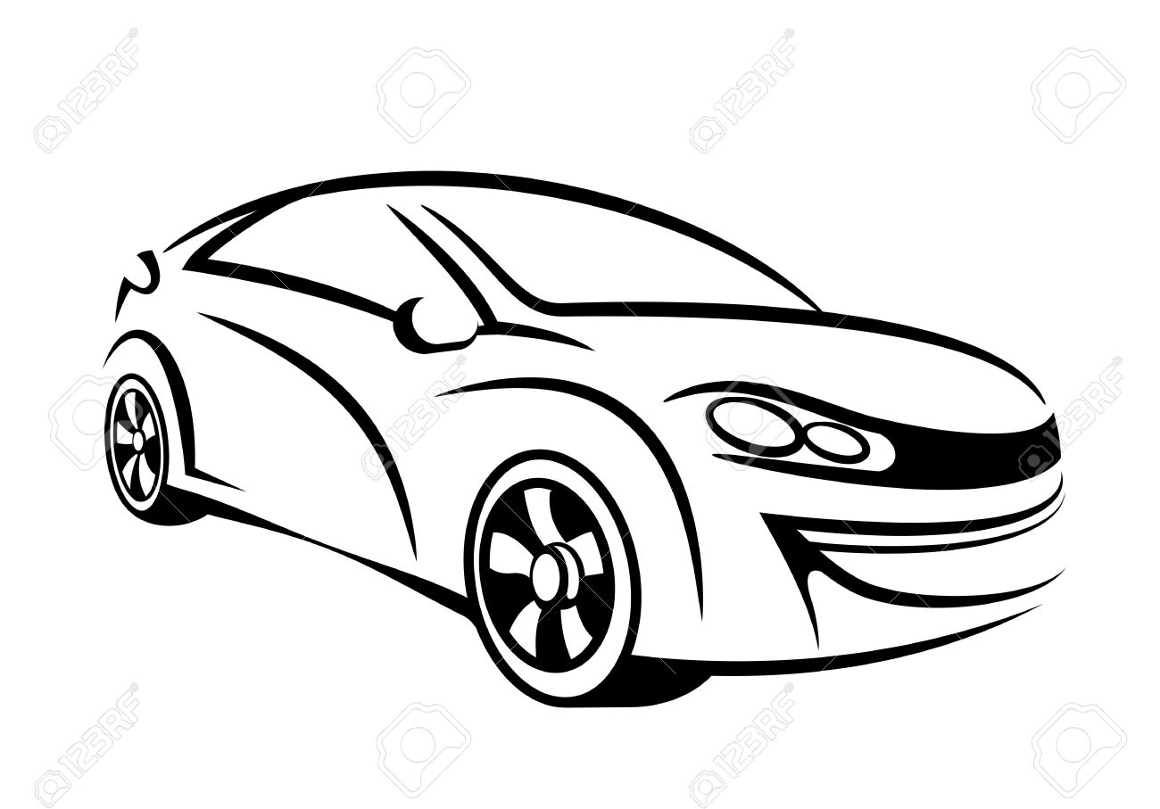 1300x907 My Own Car Concept In Line Art Stock Photo, Picture And Royalty