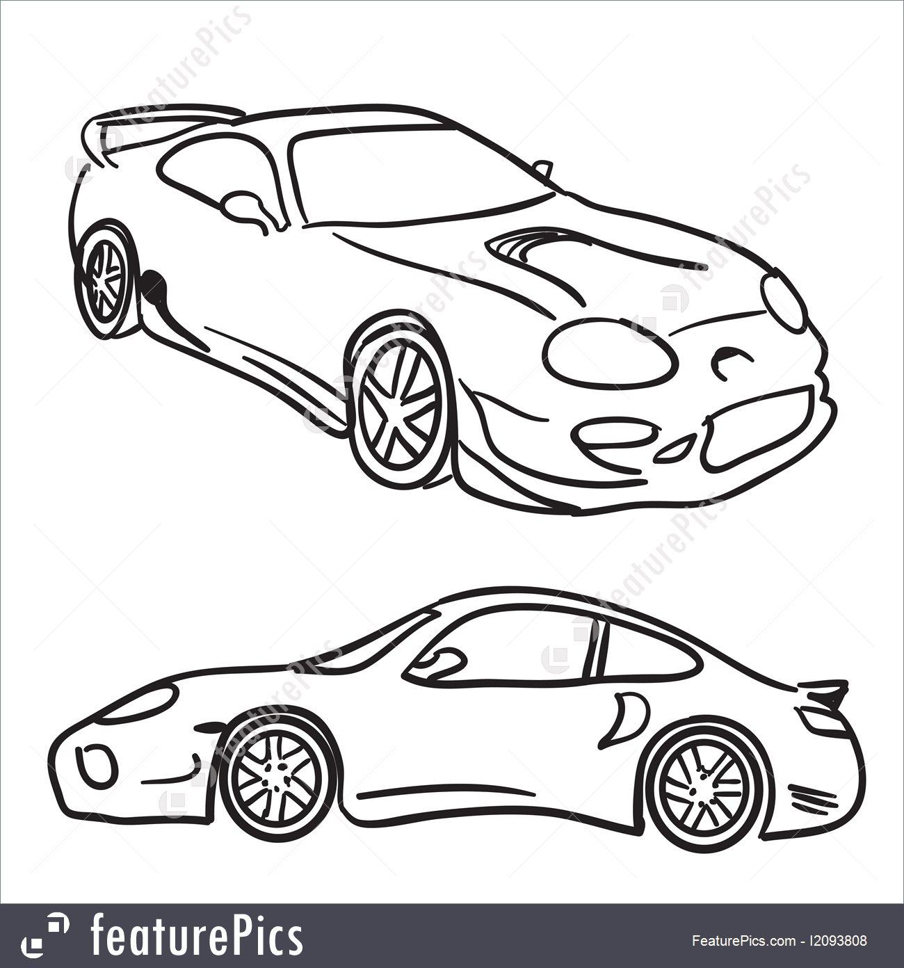 1300x1392 Sports Car Sketches Illustration