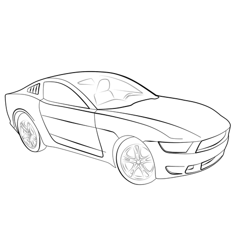 Line Drawing Of Car At Getdrawings Com Free For Personal Use Line