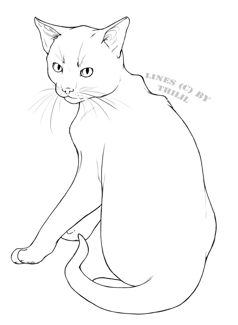 766x1044 Gallery Free Line Drawings Of Cats,