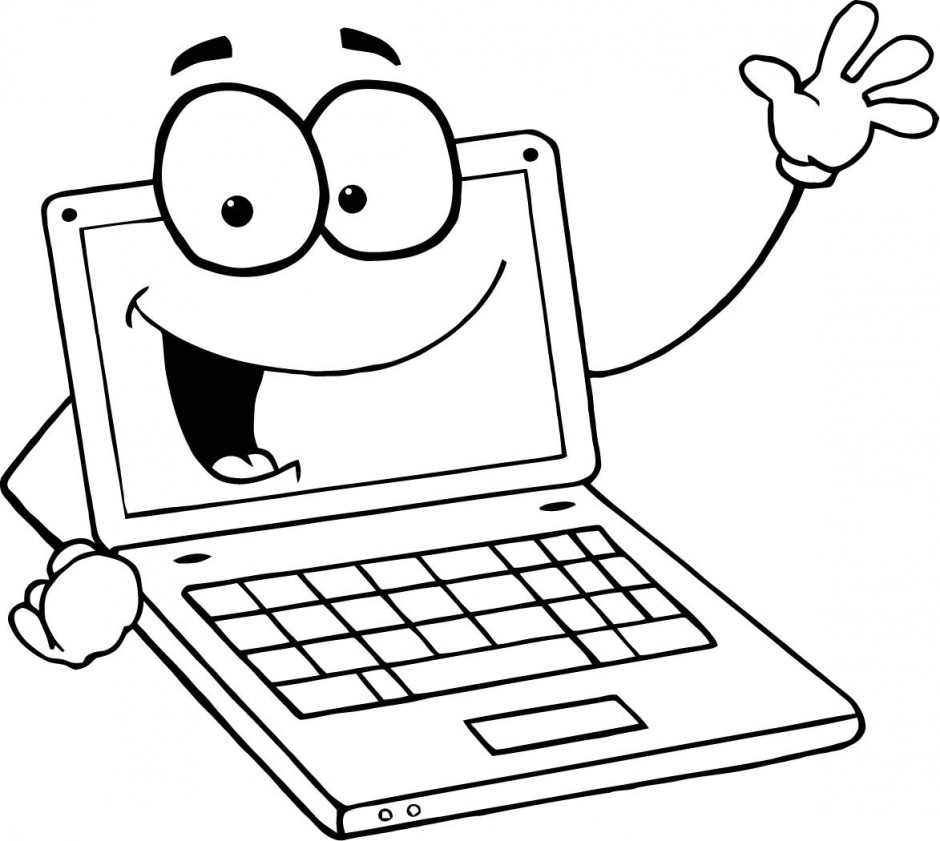 940x841 Computer Pencil Drawing For Kids Computer Clipart Line Drawing