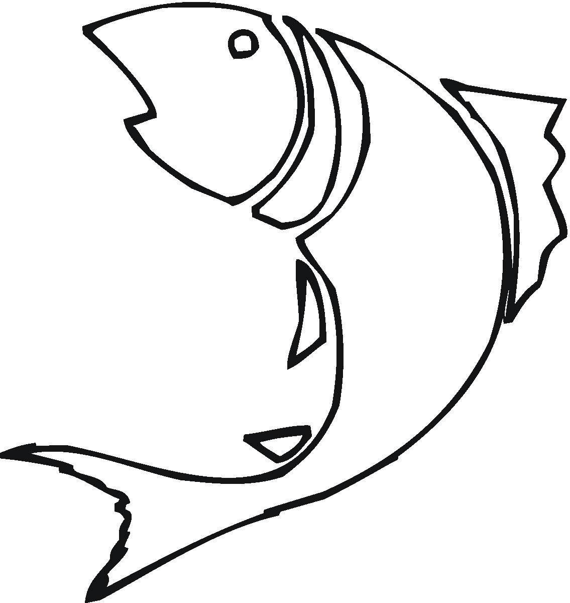 1135x1200 Fish Drawing Outline