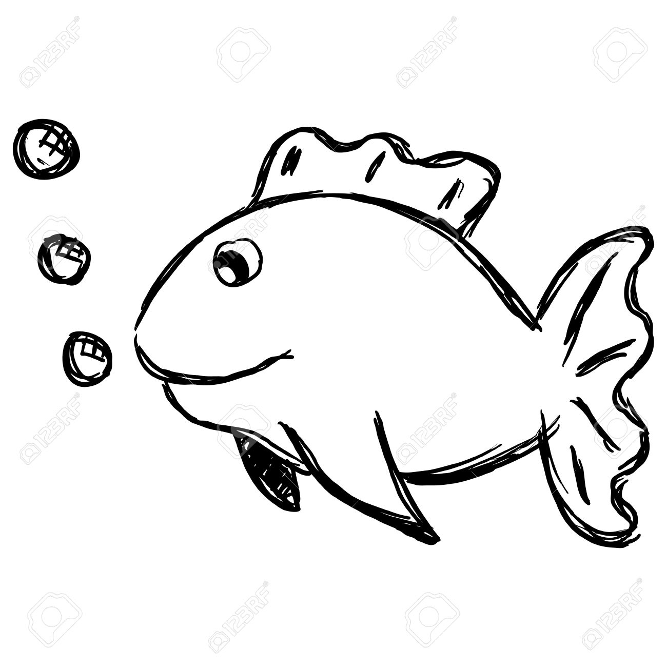 1300x1300 Cartoon Fish Drawing Outline Drawings Of Fish Group
