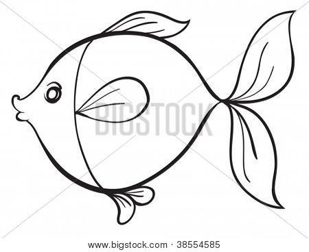 450x368 Detailed Illustration Fish Line Vector Amp Photo Bigstock