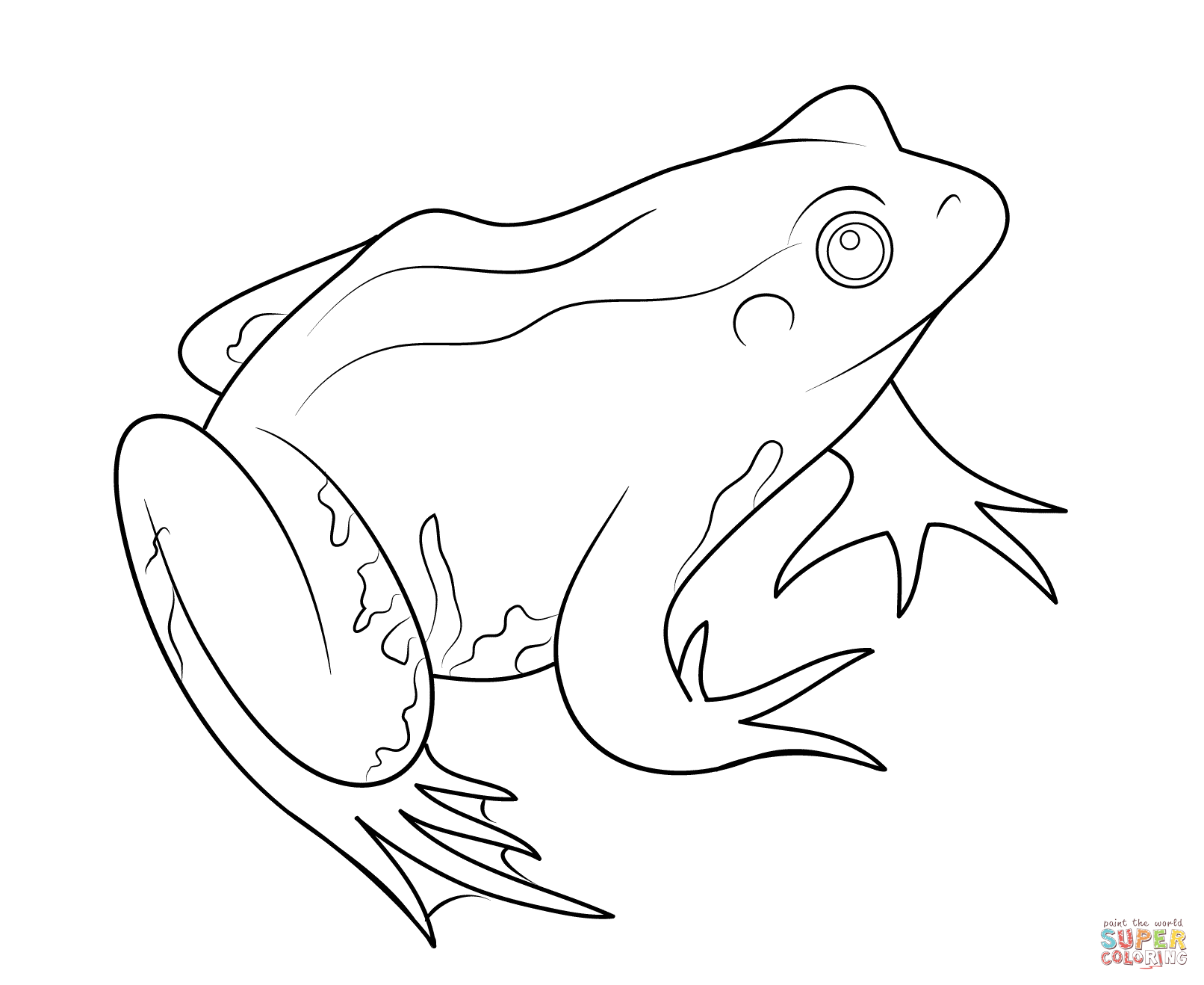 Line Drawing Of Frogs at GetDrawings.com | Free for personal use ...