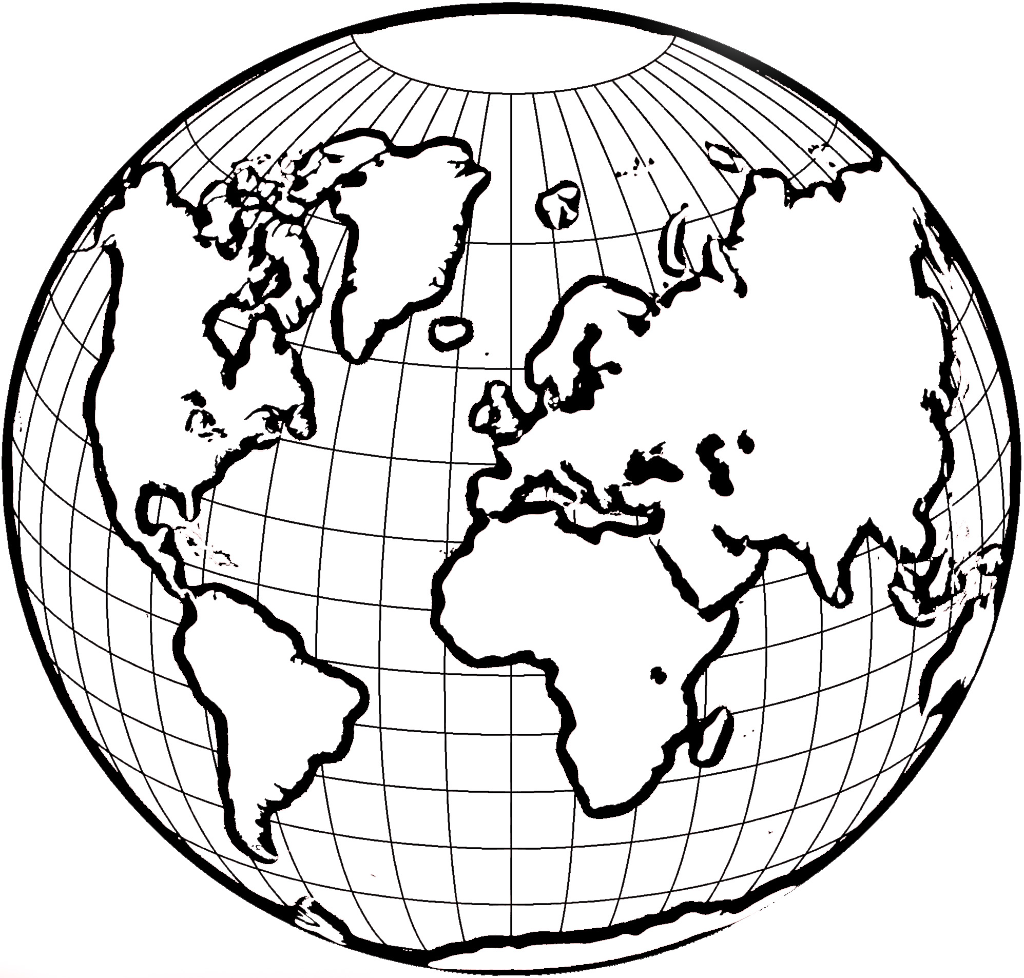 World Map Clip Art Black And White.Line Drawing Of Globe At Getdrawings Com Free For Personal Use