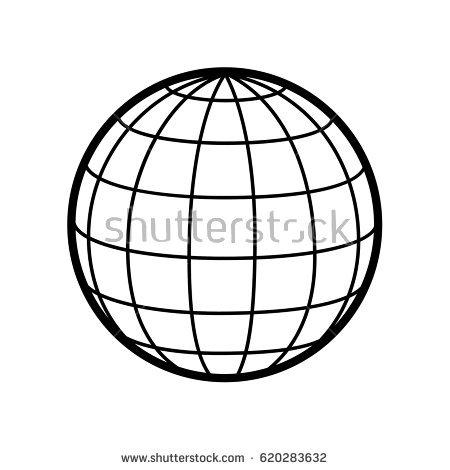 450x470 Globe Clipart Wireframe