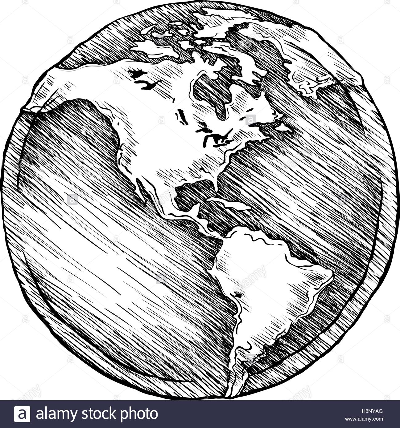 1297x1390 Globe Outline Drawing Vector Illustration Of Sketchy Stock Vector