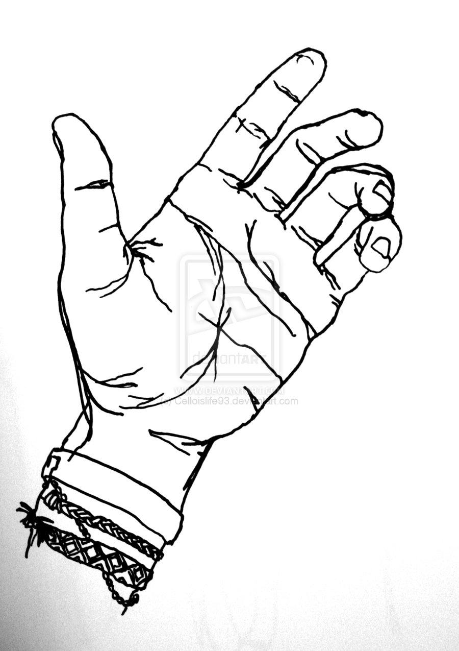 900x1275 Blind Contour Drawing Art 1