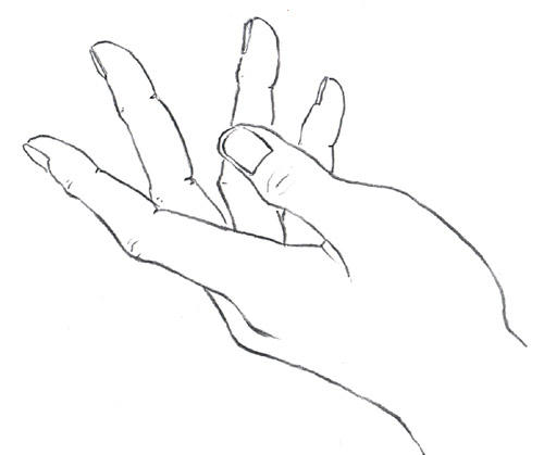 Line Drawing Of Hands