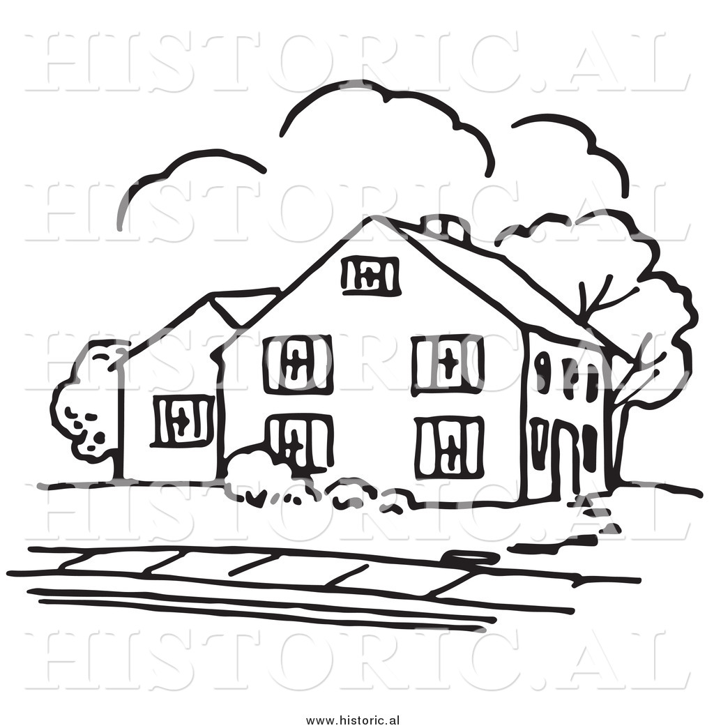 Line Art House Vector : Line drawing of house at getdrawings free for