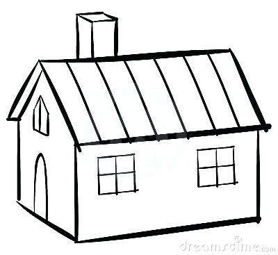 400x367 House Clipart House Line Art House Clipart Png Memocards.co