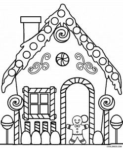 249x300 Gingerbread House Coloring Pages Adult And Children's Coloring