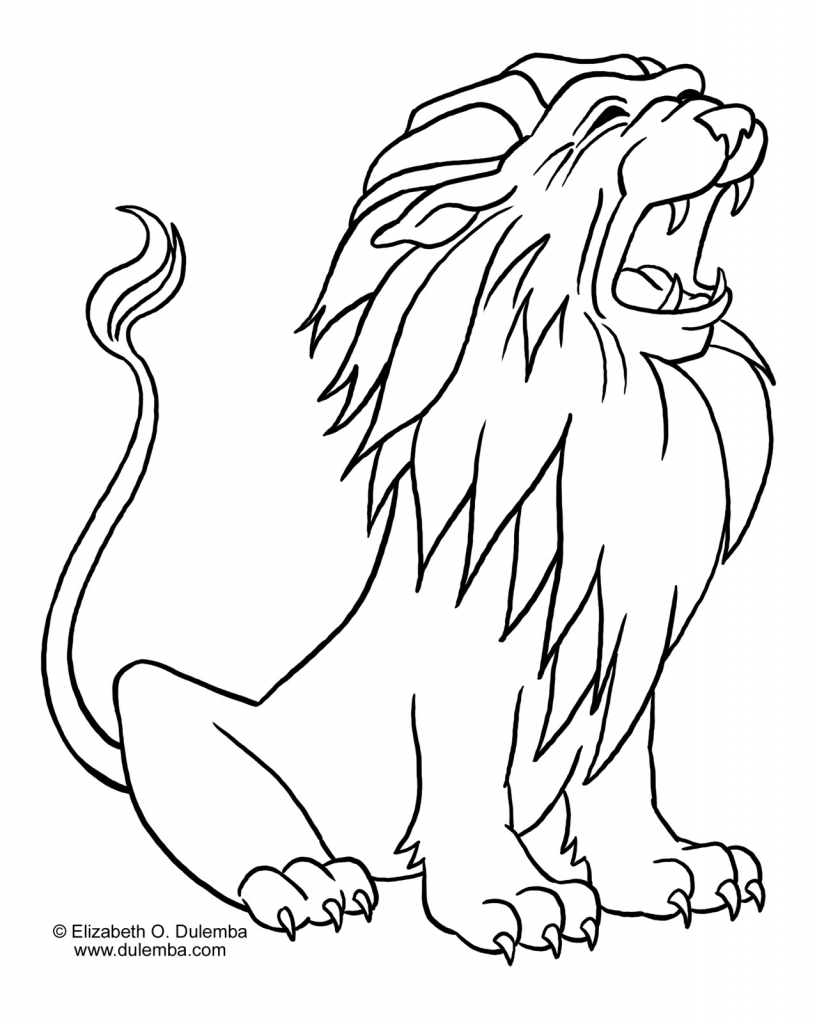 817x1024 Line Drawing Of A Lion Mountain Lion Line Drawing 6880 Line