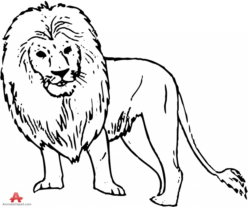 1024x857 Lion Drawing Outline How To Draw A Lion Draw Central