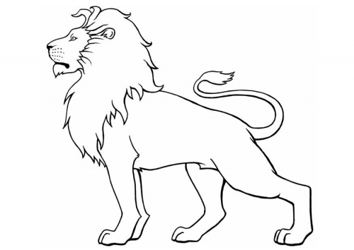 500x354 The Outline Of A Lion With A Quote Or Something Going Through It