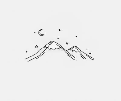 Line Drawing Of Mountains
