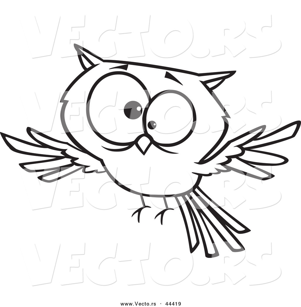 1024x1044 Vector Of A Cross Eyed Cartoon Owl