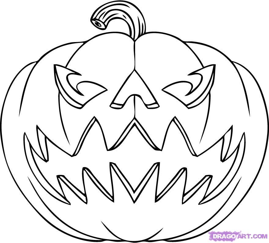 880x797 Drawn Pumpkin Jack O Lantern