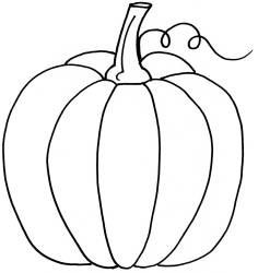 236x250 Pumpkin Coloring Template Colouring In Kids Club Ullswater
