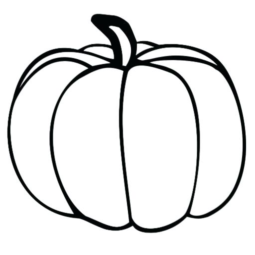 512x512 Pumpkin Drawing Halloween Pumpkin Outline Drawing Ladyroom.club