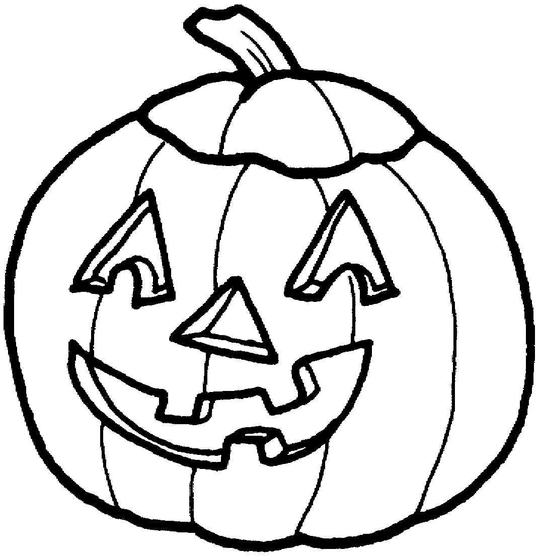 1071x1105 Pumpkin Outline Drawing Free Design Templates