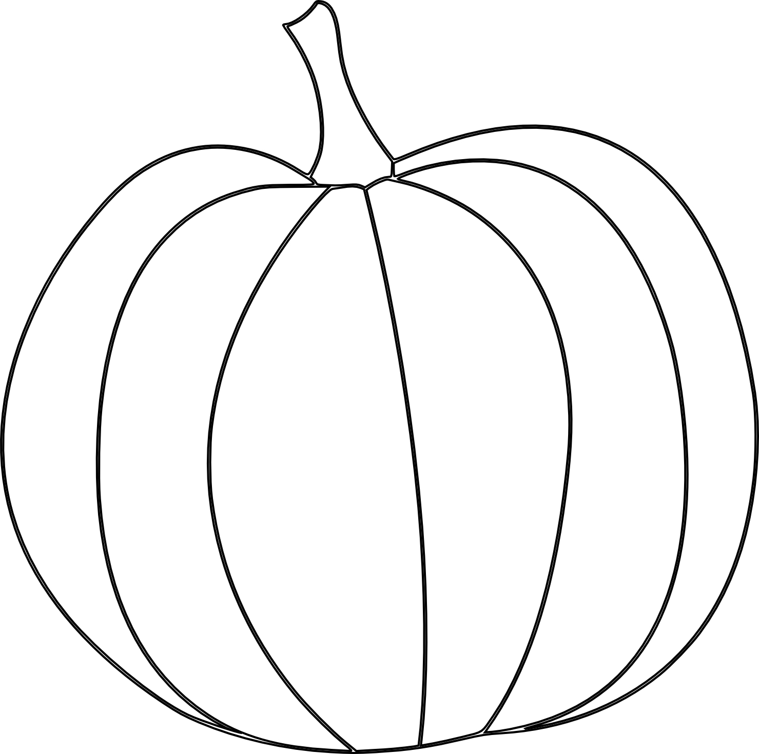 1479x1469 Drawing Of A Pumpkin Pumpkin Line Drawing Free Download Clip Art
