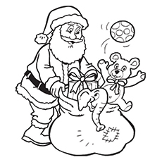 Line Drawing Of Santa Claus