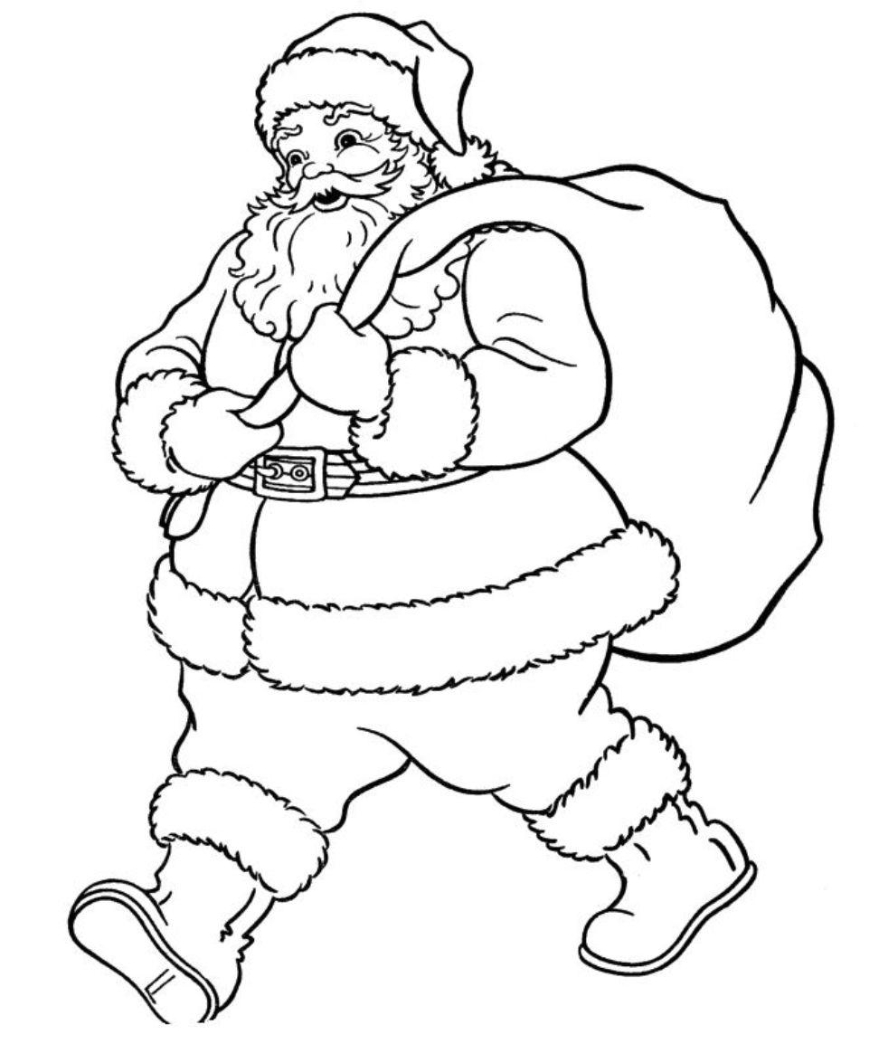 972x1154 Santa Claus Sleigh Coloring Pages Printable Santa Claus Coloring