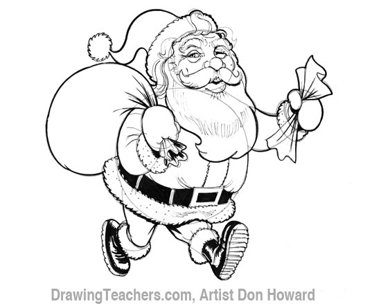 line drawing of santa claus at getdrawings | free for personal