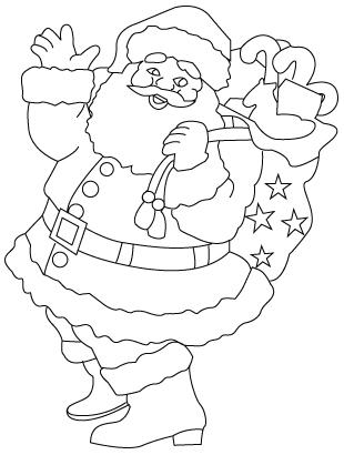 310x410 Santa Claus Drawing To Color