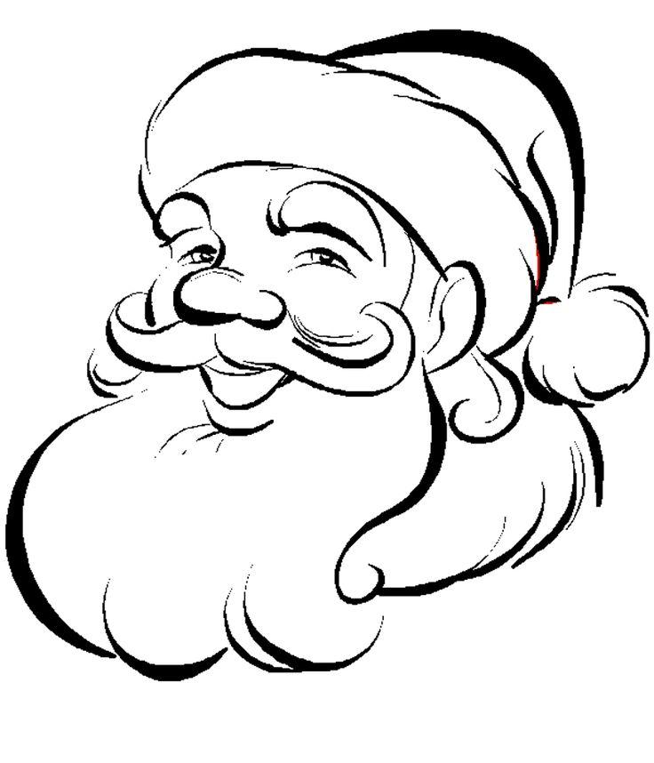 736x858 Christmas Santa Drawings Fun For Christmas