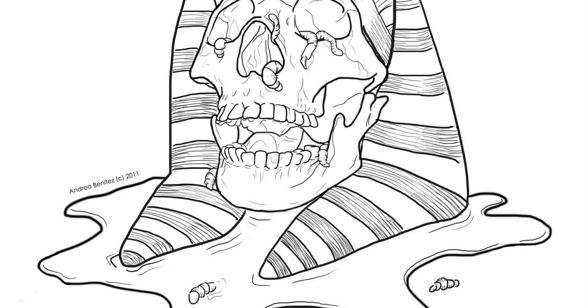 1200x630 Line Drawing Mummy Skull