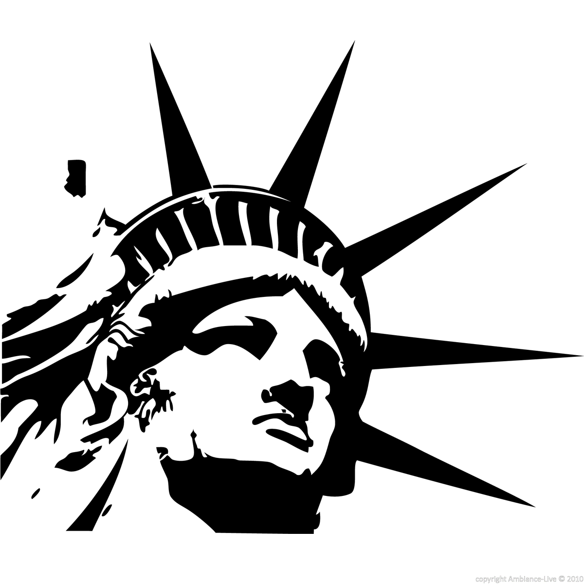 1200x1200 Statue Of Liberty Head Clipart