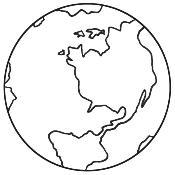 600x600 Earth Coloring Pages