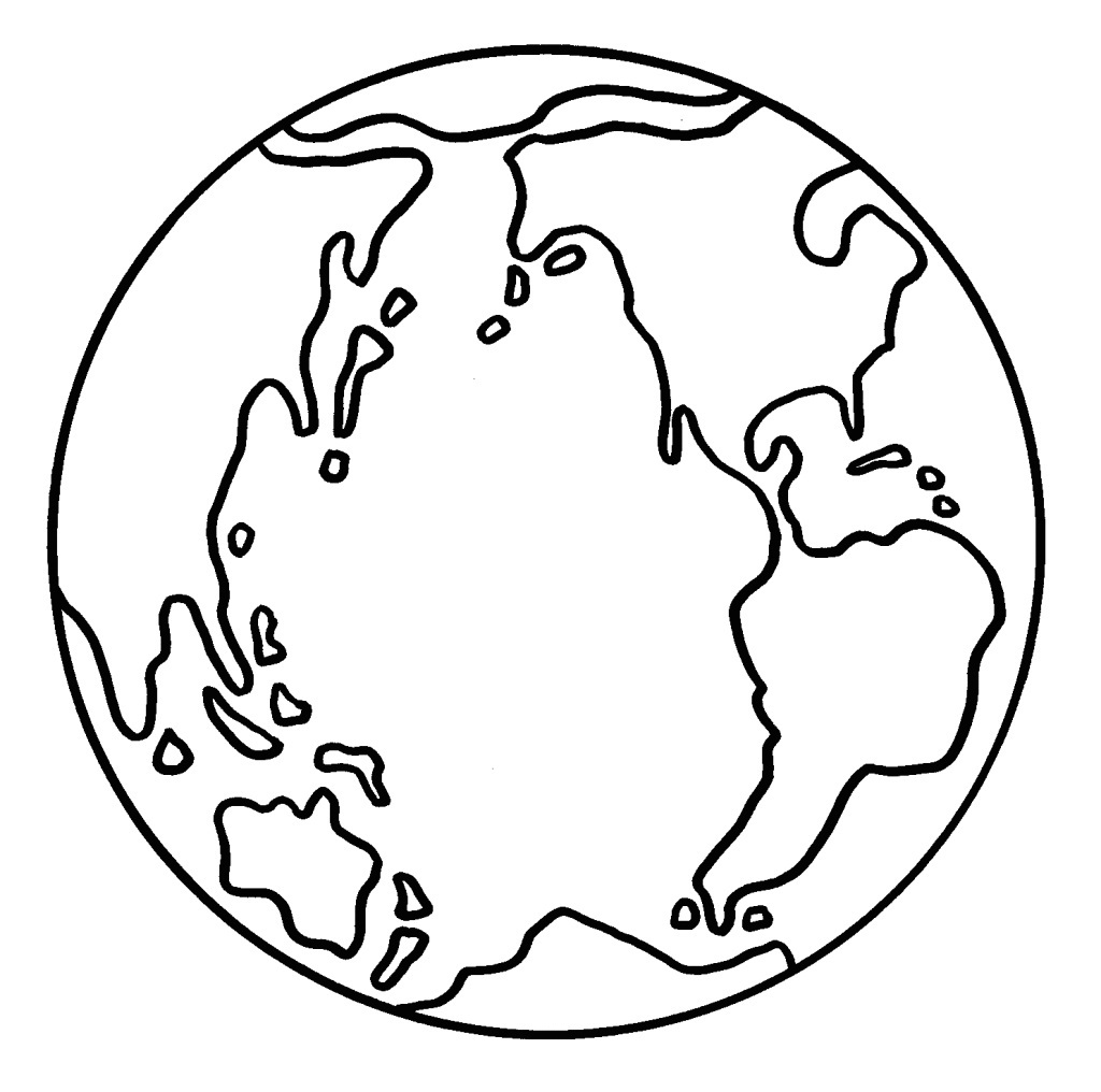 1024x1016 Earth Coloring Pages Printable For Kids